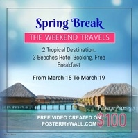 Spring Break Travel Promotion Video Template