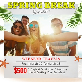 Spring Break Vacation Package Video Template