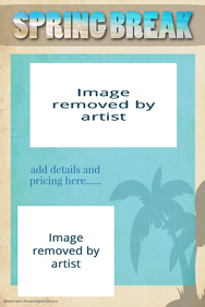Spring Break Vacation Travel Brochure flyer template poster