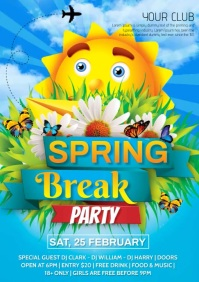 Spring break video A4 template