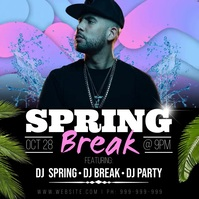 Spring Break Video Poster Instagram 帖子 template
