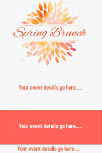 Spring Brunch Fundraiser Announcement Invitation Floral