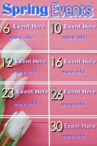 Spring Calendar Plakat template