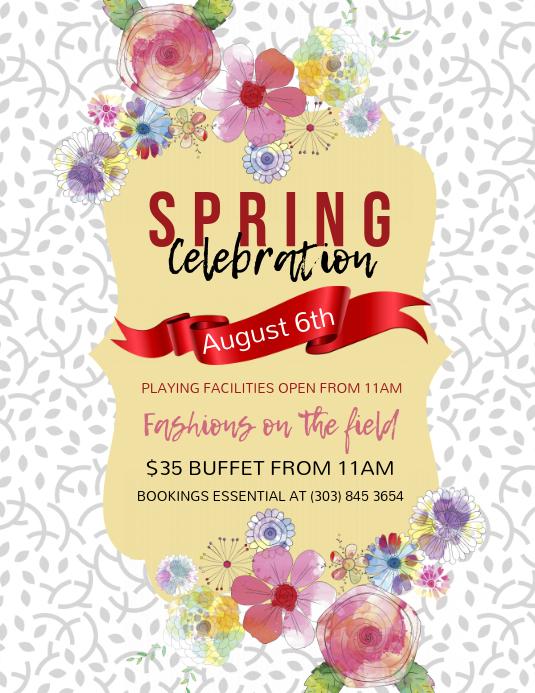 Spring Celebration Flyer