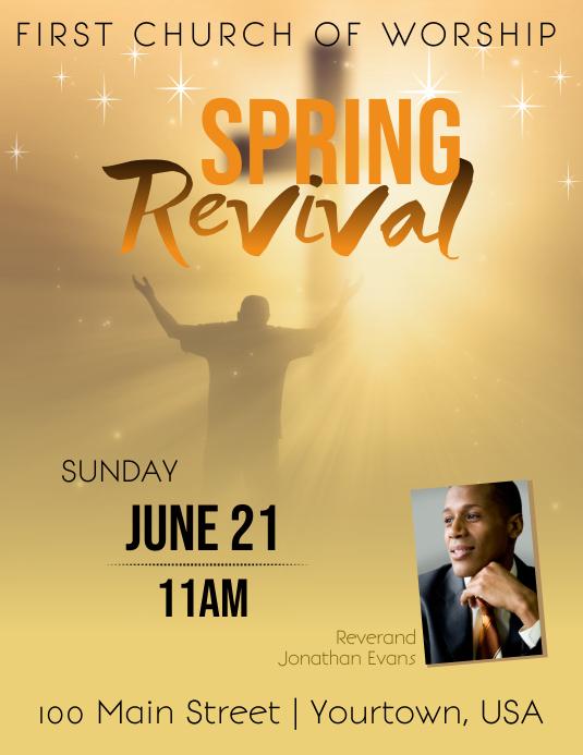 Spring Church Revival Event Flyer