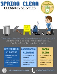 spring clean cleaning Flyer template