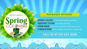 Spring Cleaner Service Banner Facebook Cover Video (16:9) template