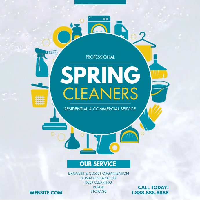 Spring cleaners Wpis na Instagrama template