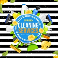 spring cleaning, cleaning service Carré (1:1) template