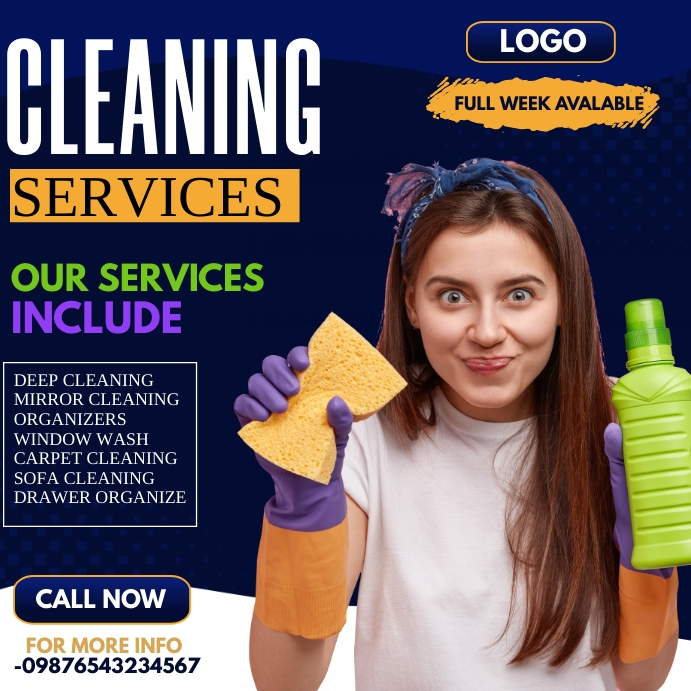 spring cleaning,cleaning services 方形(1:1) template