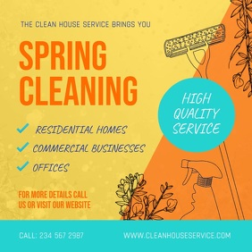 Spring Cleaning Ad Professional Services Square Video