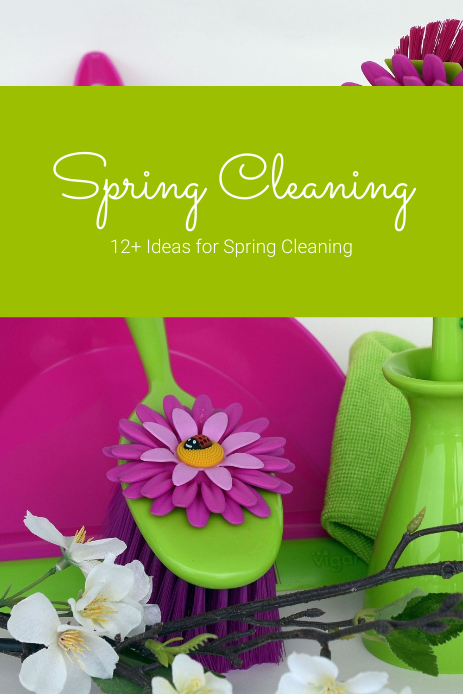 Spring Cleaning Custom Pinterest Pin Template