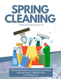 Spring cleaning Volantino (US Letter) template