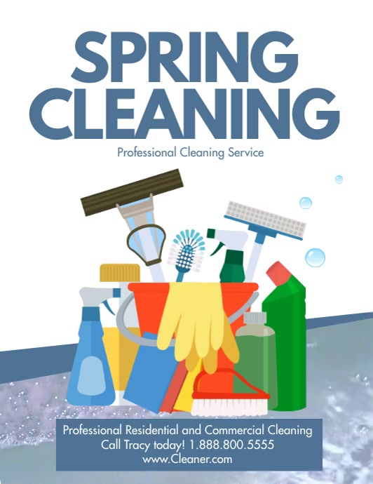 Spring cleaning Flyer (US Letter) template