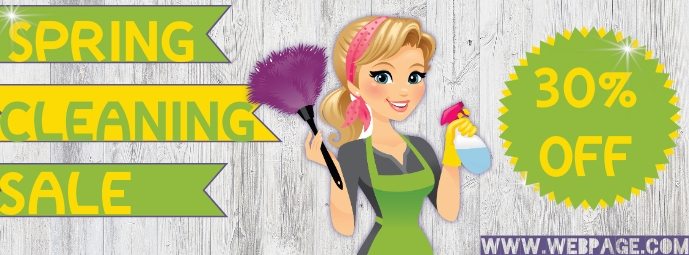 Spring Cleaning Zdjęcie w tle na Facebooka template