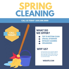 Spring cleaning Instagram Post template