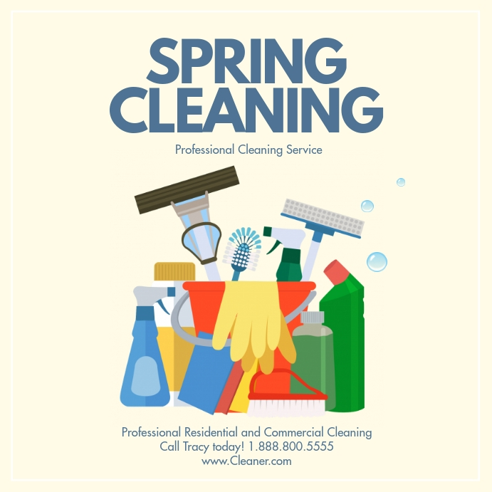 Spring cleaning Wpis na Instagrama template