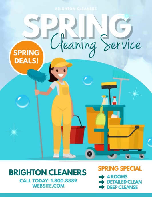 Spring cleaning Folder (US Letter) template
