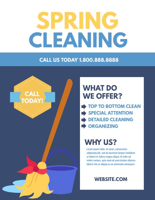 Spring cleaning Løbeseddel (US Letter) template
