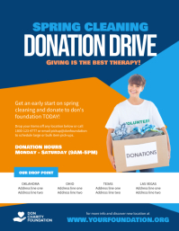 Spring Cleaning Donation Drive Poster Flyer