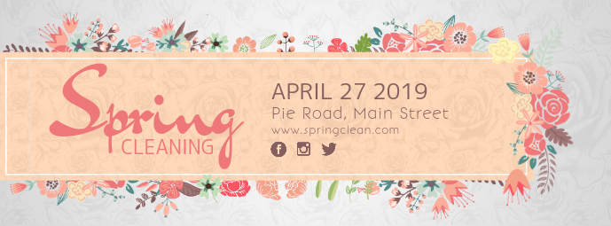 Spring Cleaning Floral Facebook Cover Photo template