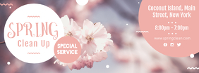 Spring Cleaning Neighborhood Cleaning Facebook Cover Photo template