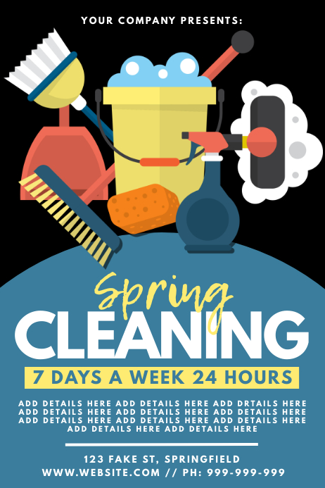Spring Cleaning Poster Affiche template