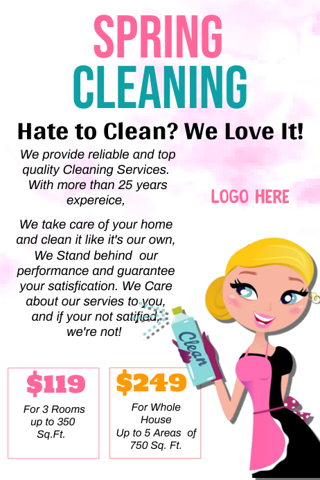 Spring Cleaning Flyer Template Dolapgnetband