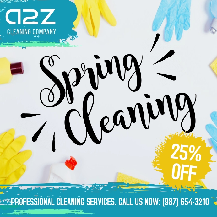 Spring cleaning professional cleaning service Instagram Post template