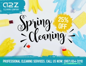 Spring cleaning professional cleaning service Løbeseddel (US Letter) template