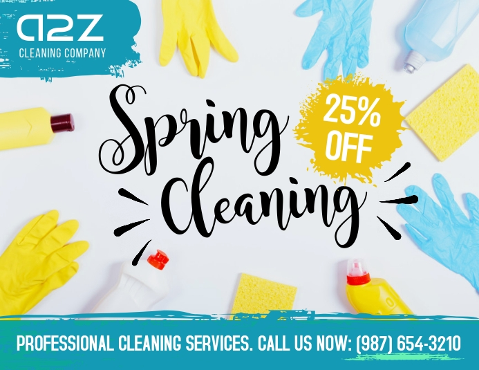 Spring cleaning professional cleaning service Pamflet (Letter AS) template