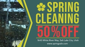 Spring Cleaning Sale Advert Display Banner template