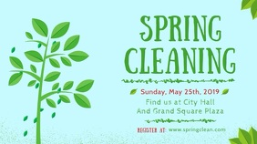 Spring Cleaning Sale Display Banner template
