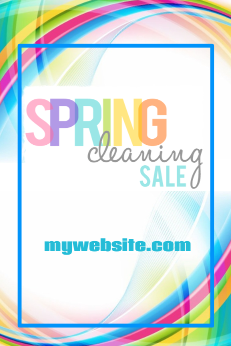 Spring Cleaning Sale Templatw Plakat template