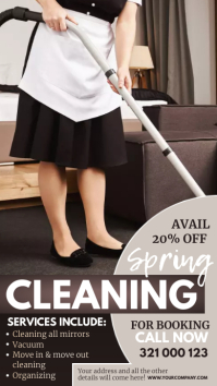 spring cleaning service, spring, cleaning Instagram Story template