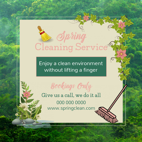 Spring Cleaning Service Ad Instagram Image