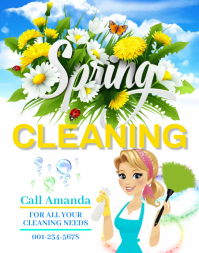 Spring Cleaning Service Poster/Wallboard template