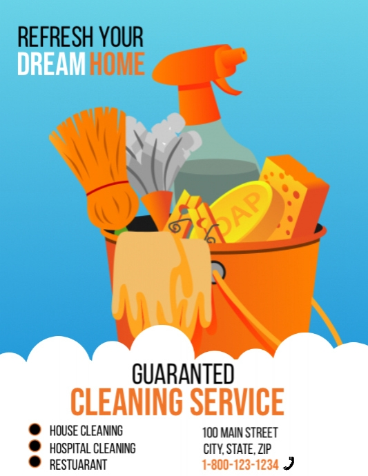 Spring Cleaning Service Flyer