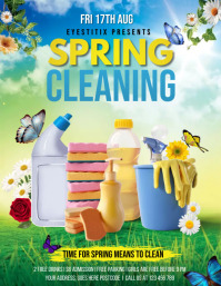 spring cleaning services, cleaning Folder (US Letter) template