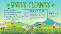 Spring Cleaning Services Message Twitter template