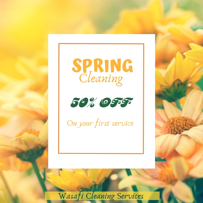 Spring cleaning services flyer template Wpis na Instagrama