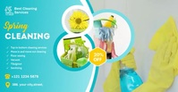 spring cleaning services template Iklan Facebook