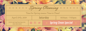 Spring Cleaning Special Event Facebook Cover Photo template