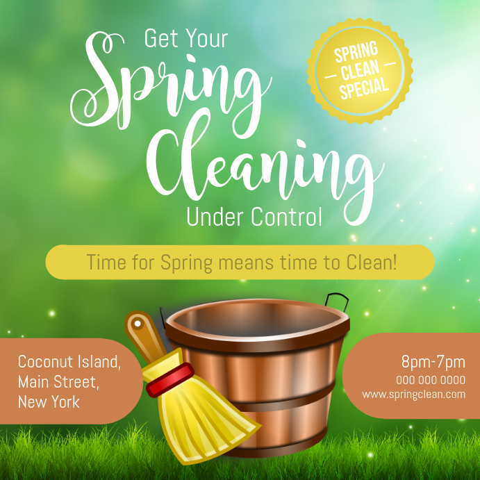 Spring Cleaning Special Instagram Image template