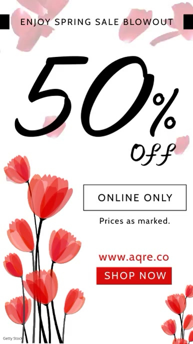 Spring Clearance Sale Digital Display Ad template