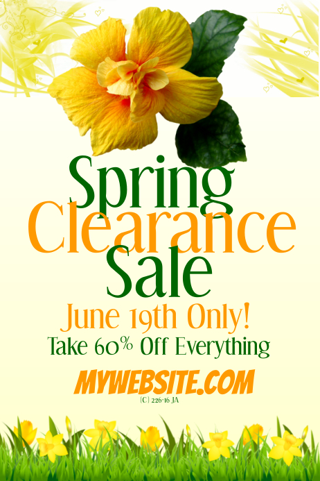 Spring Clearance Sale Event Flyer Template Postermywall