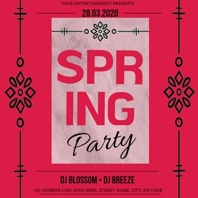 Spring Club Party Event Flyer Template