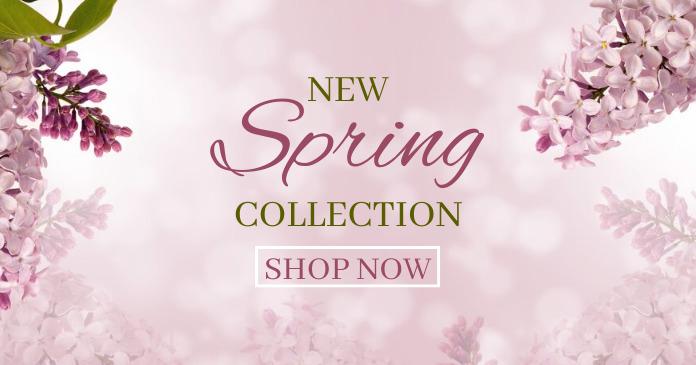 Spring Collection delt Facebook-billede template