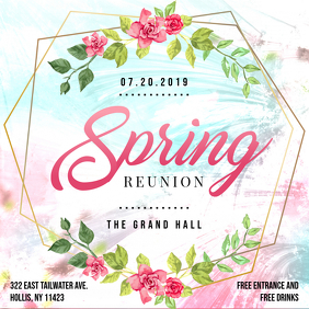 Spring College Party Invitation Design