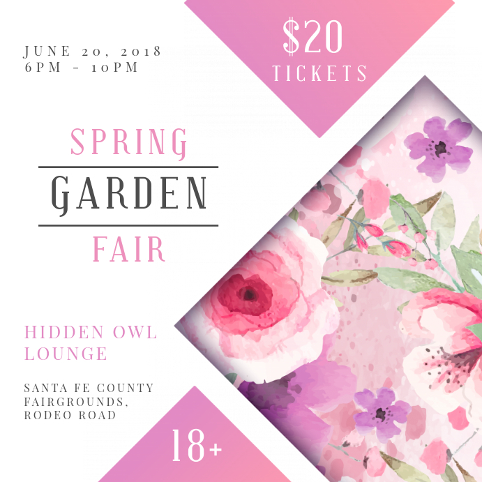 Spring Community Event Square Invitation Instagram-Beitrag template